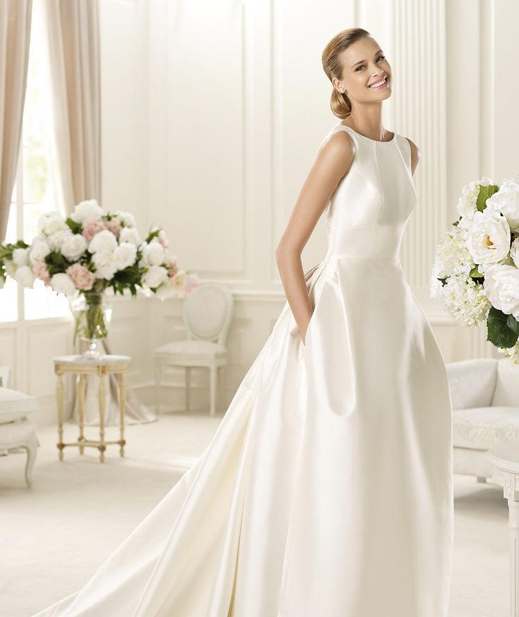 Wedding Gown With Pockets: Taffeta Wedding Dress With Pockets