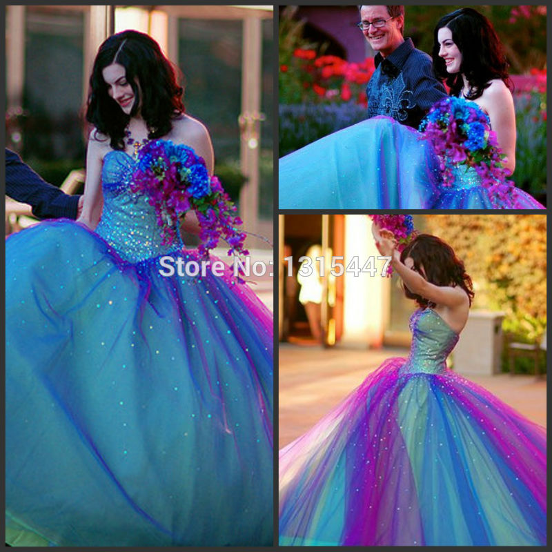 Awesome Blue And Purple Wedding Dress Images - Styles & Ideas 2018 ...