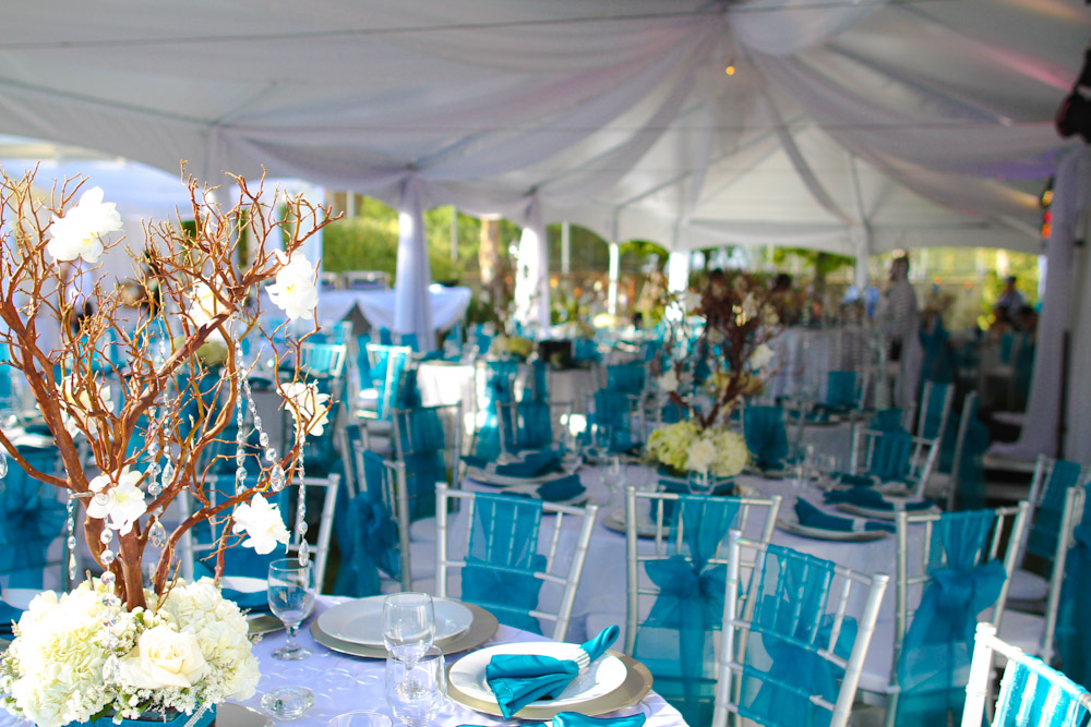 Purple Turquoise And Silver Wedding