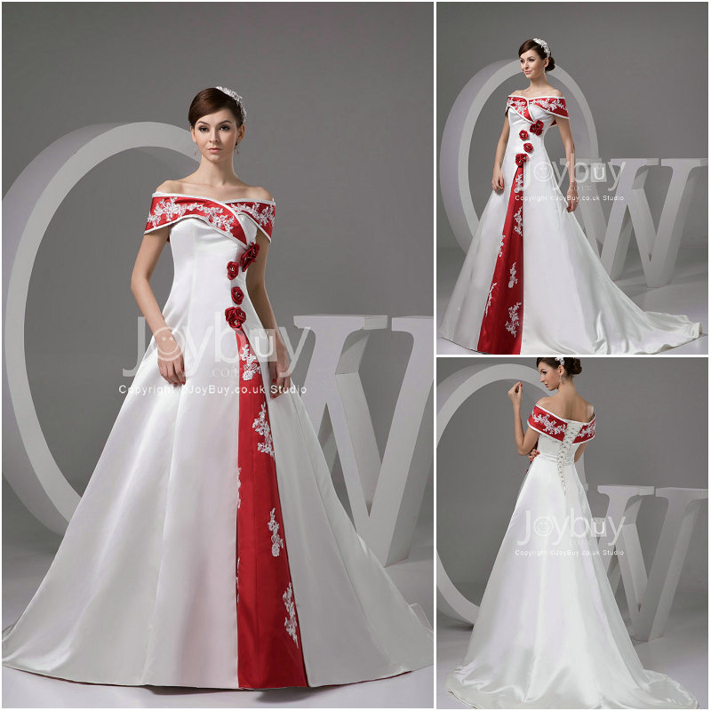 Red and white wedding dress junglespirit Images