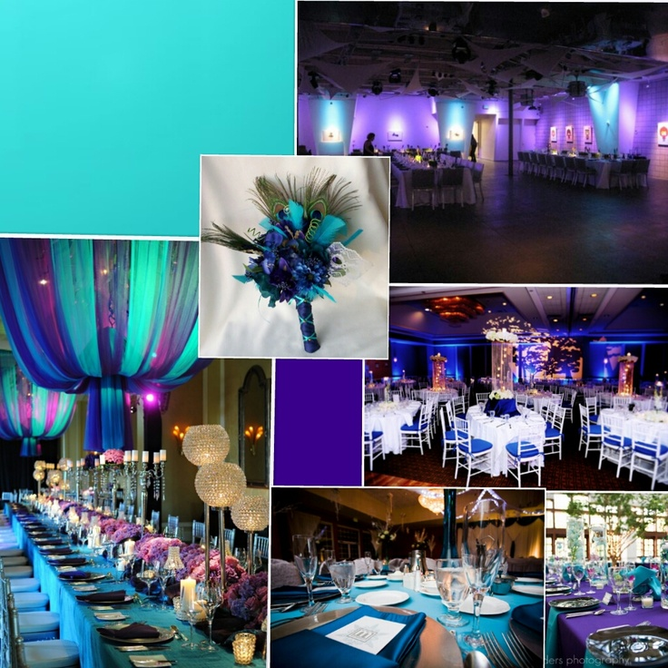 Teal And Purple Wedding Theme
