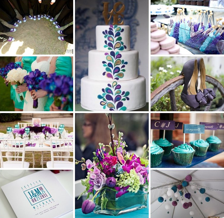 Purple Weddings Ideas: Teal And Purple Wedding Ideas