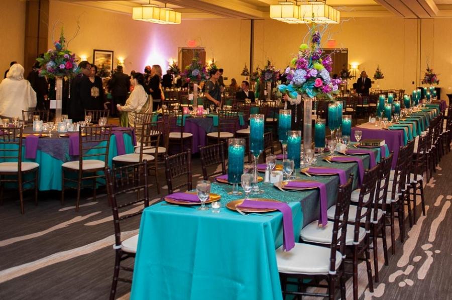 Teal Purple And Gold Wedding Reception Decor Emasscraftorg