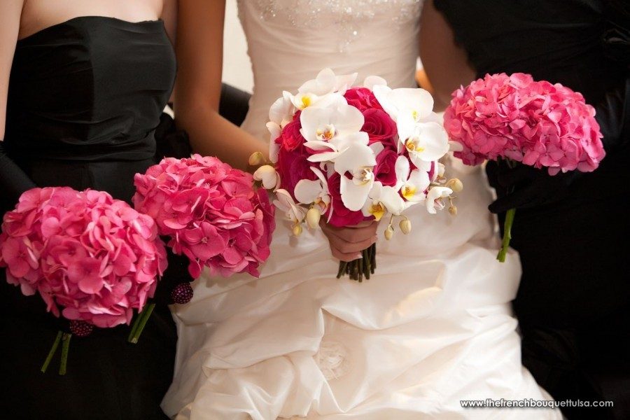 Hot pink and white wedding bouquets mightylinksfo Gallery