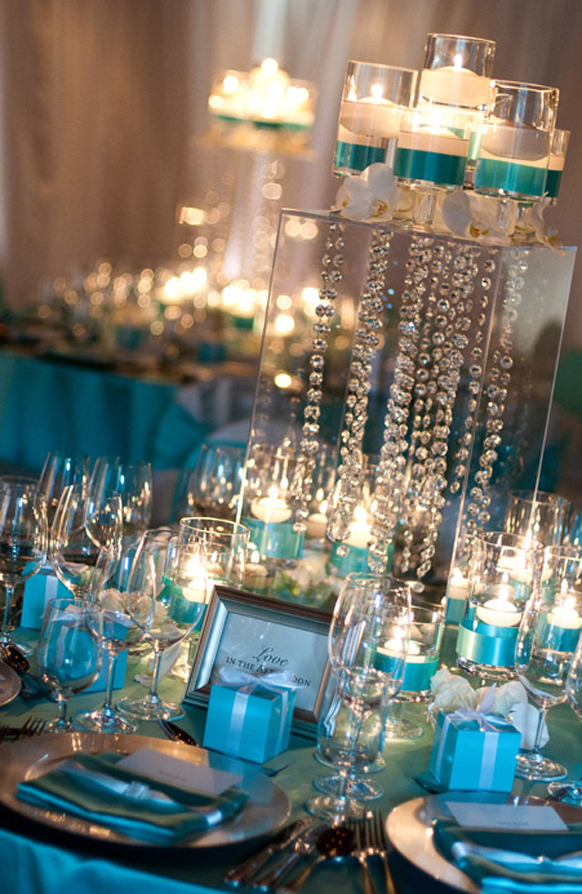 & Blue And Gold Wedding Centerpieces