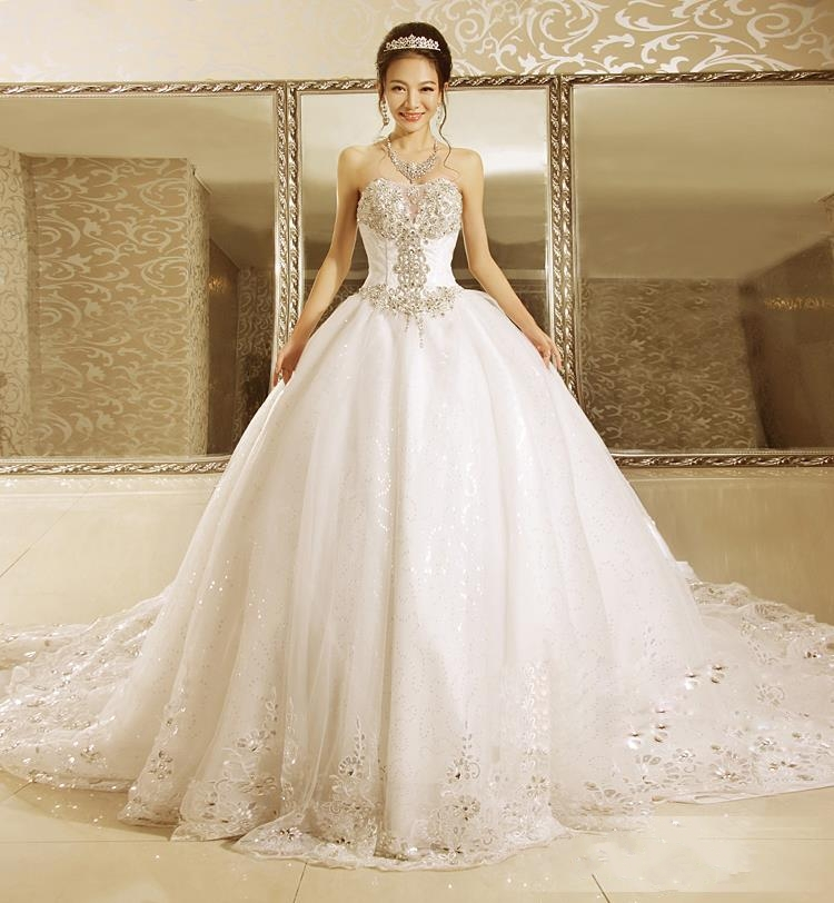 Wedding Dress With Sequins