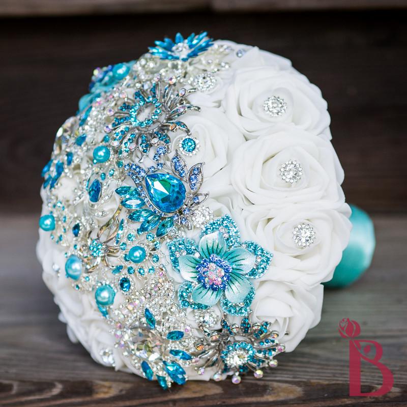 Turquoise Wedding Bouquets