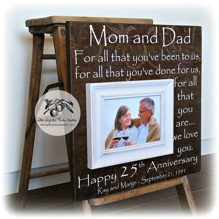 25th Wedding Anniversary Gift Ideas For Him: 40th Wedding Anniversary Gifts For Parents
