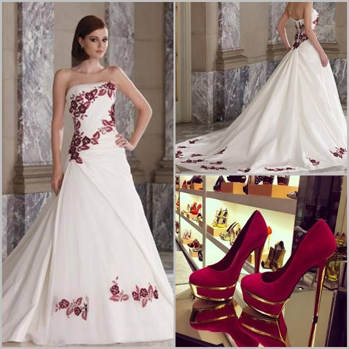 Emejing White With Red Wedding Dresses Gallery - Styles & Ideas 2018 ...