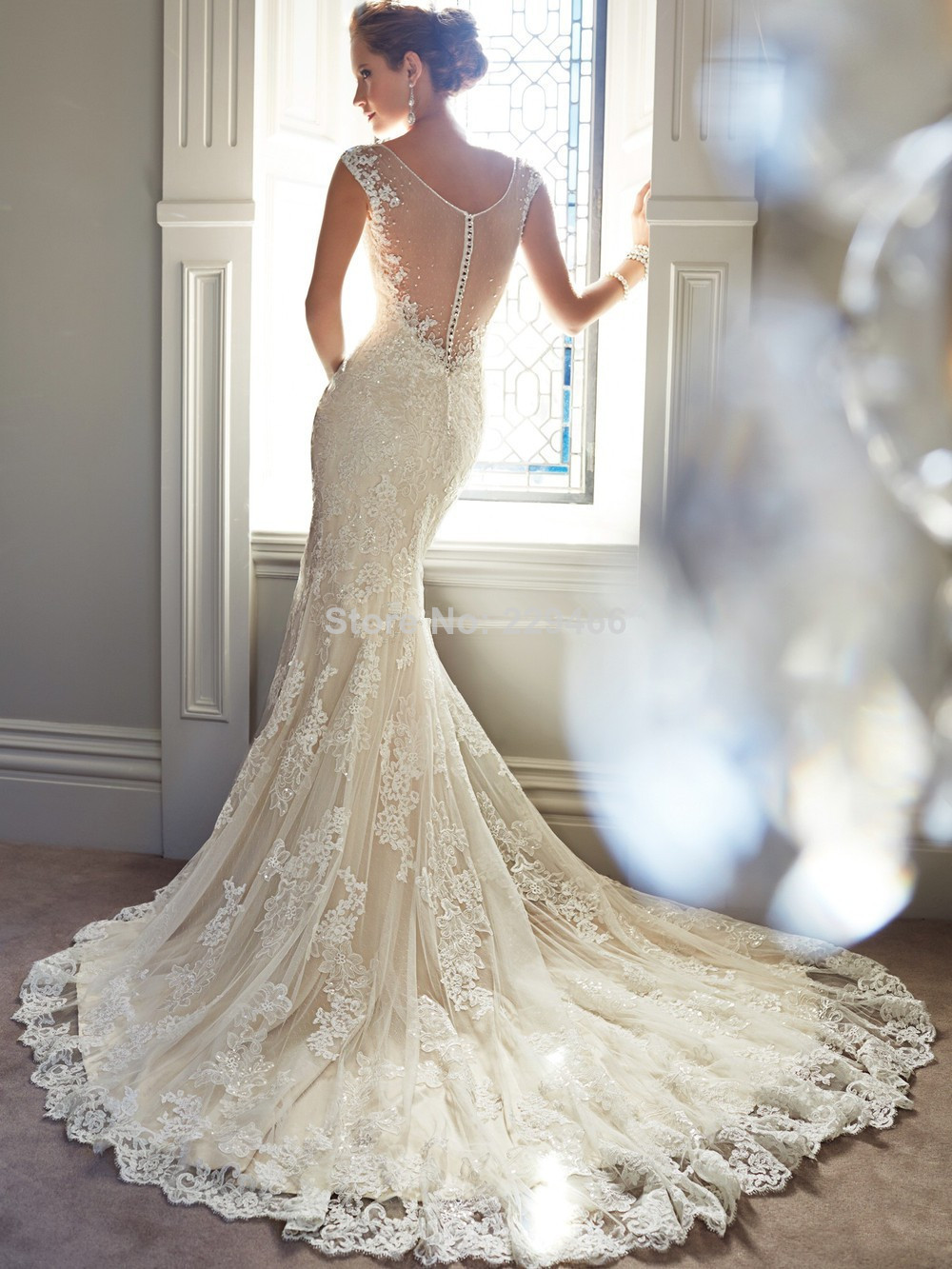 Funky Backless Lace Wedding Gown Ornament - Wedding Plan Ideas ...