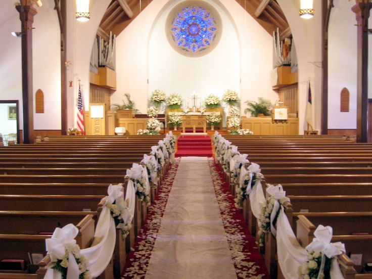 Church wedding aisle decorations junglespirit Choice Image