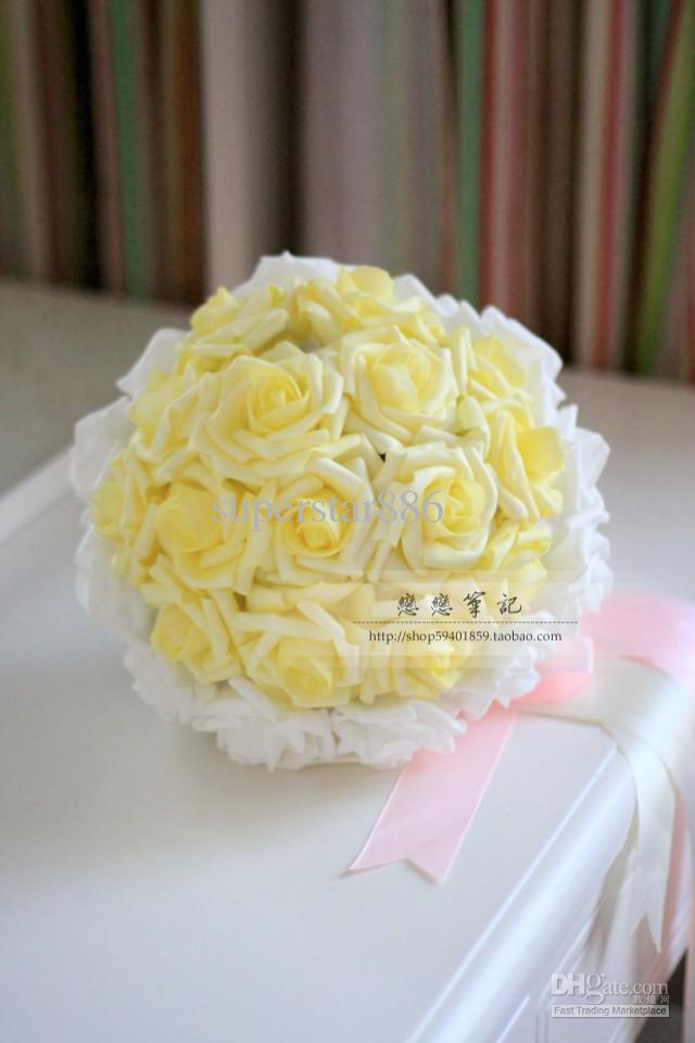 Yellow Rose Bouquet Wedding