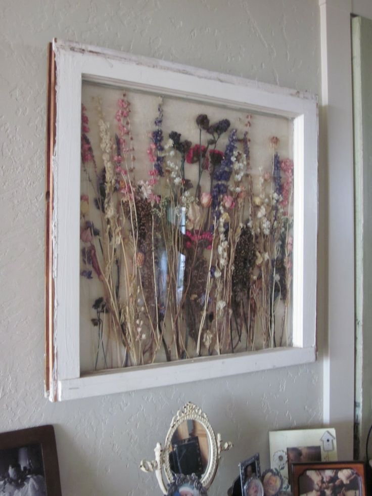 Dried Wedding Bouquet Framed