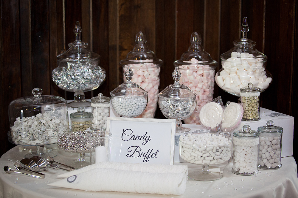 Candy Station At Wedding