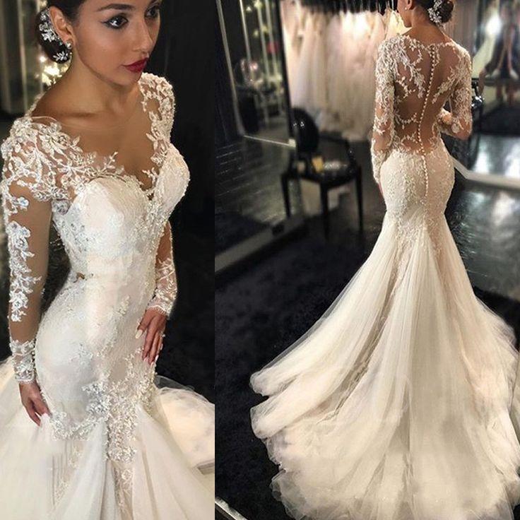 Mermaid lace wedding dress junglespirit Images