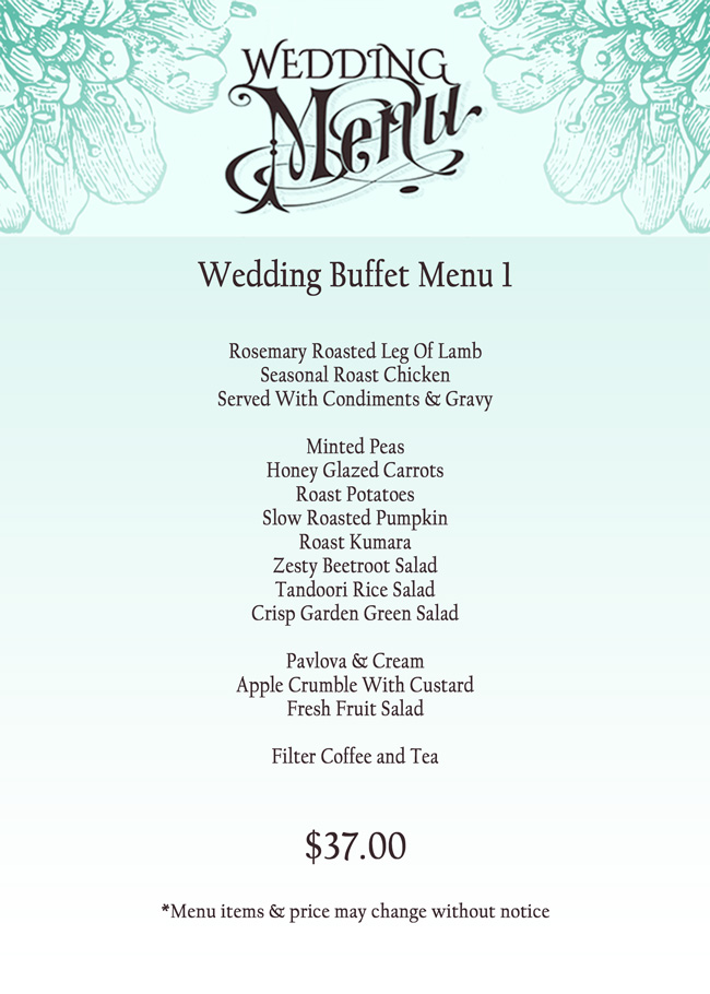 sample wedding menu - Selo.l-ink.co