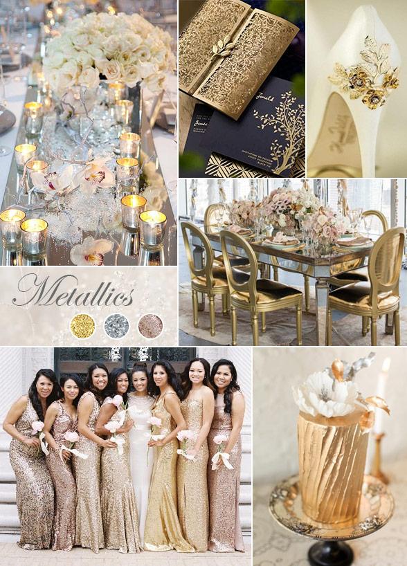 Berhmt Gold And Silver Wedding Theme Fotos Brautkleider Ideen