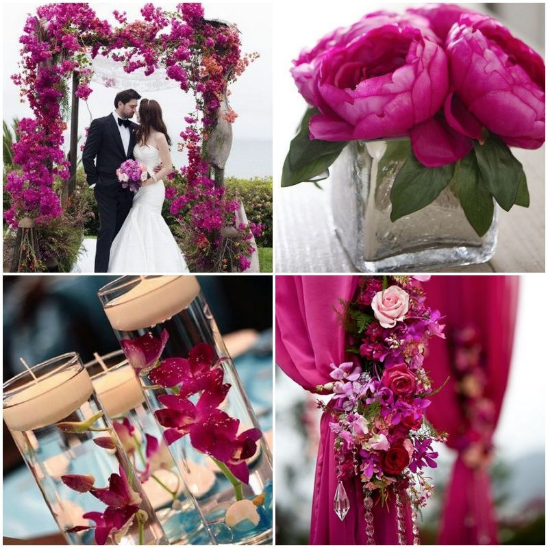 Magnificent purple and fuschia wedding decorations image wedding fuchsia wedding table decorations junglespirit Choice Image