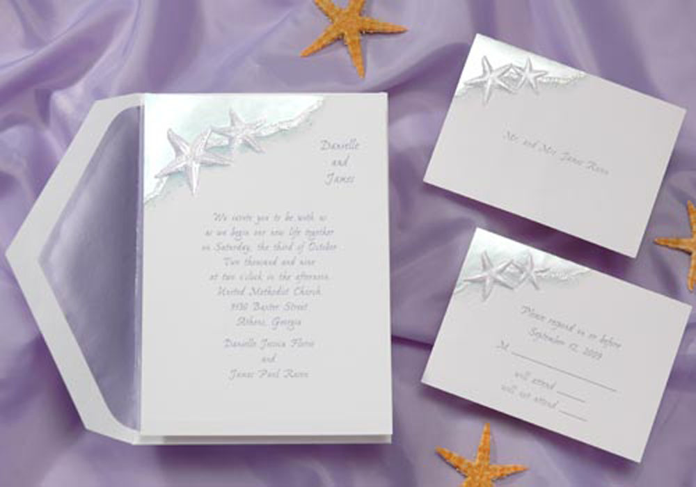 Elegant Beach Theme Wedding Invitations Images - Wedding Decoration ...
