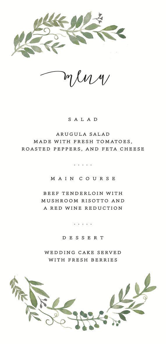 menu designs for weddings - Wedding Decor Ideas