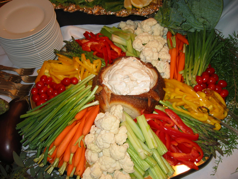 vegetable tray ideas for bridal shower