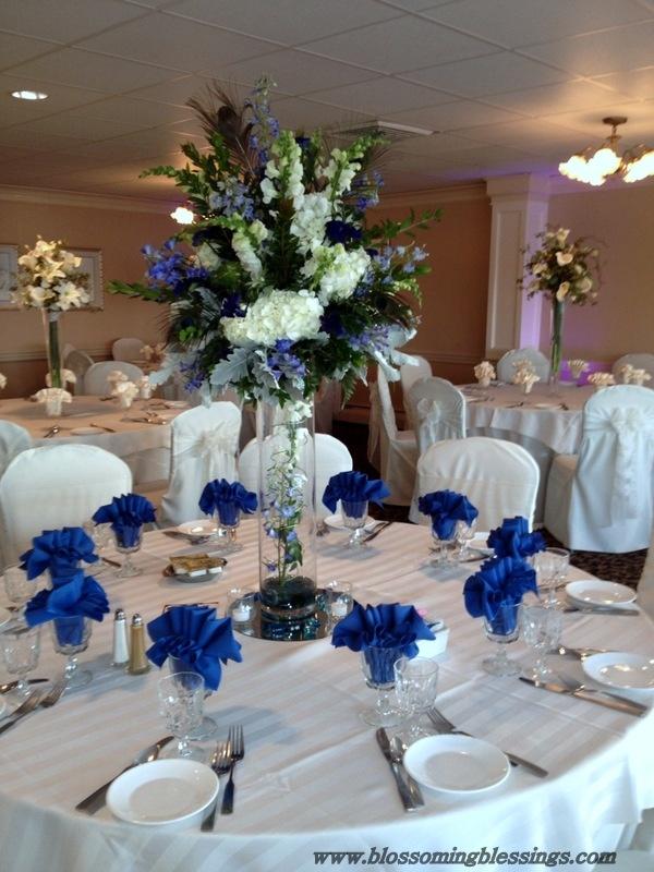 Royal blue wedding decorations wedding table decorations royal blue 6156 junglespirit Images