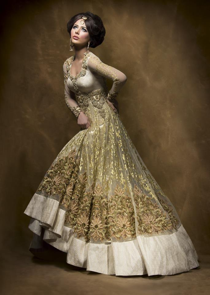 Colorful Ethnic Bridal Gowns Embellishment - Ball Gown Wedding ...