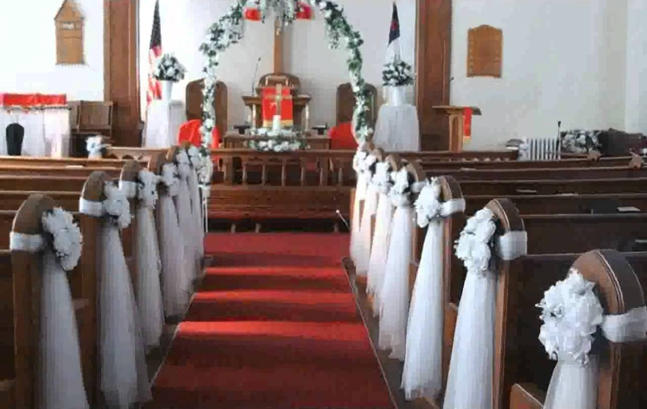 Wedding church pews decorations junglespirit Images