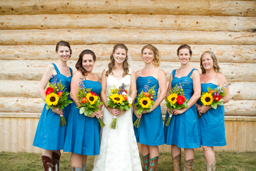 Western Wedding Bridesmaid Dress