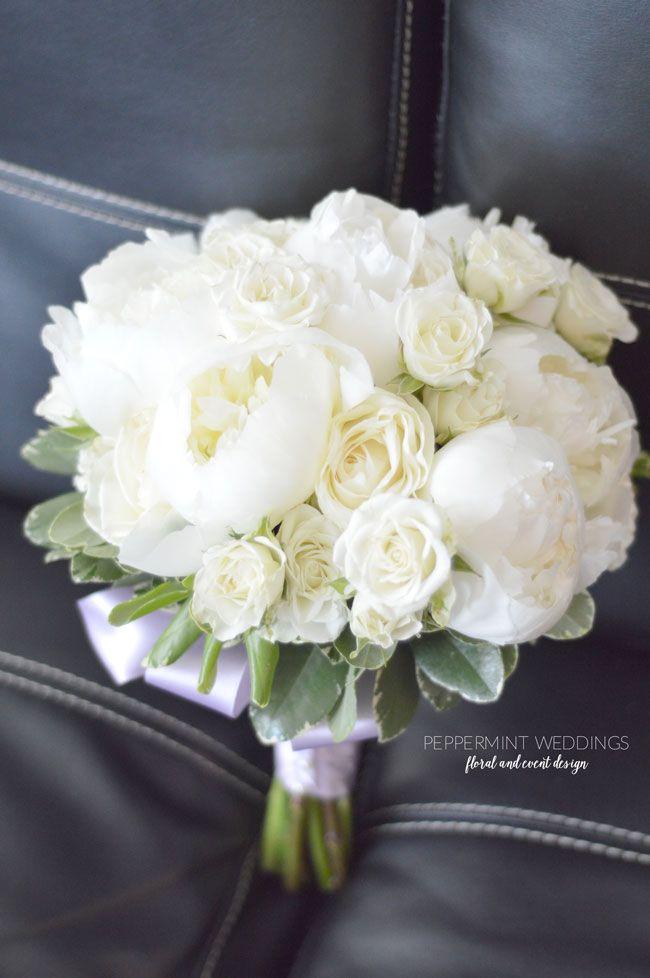 Wedding Bouquet Of White Roses White Rose Wedding Bou...