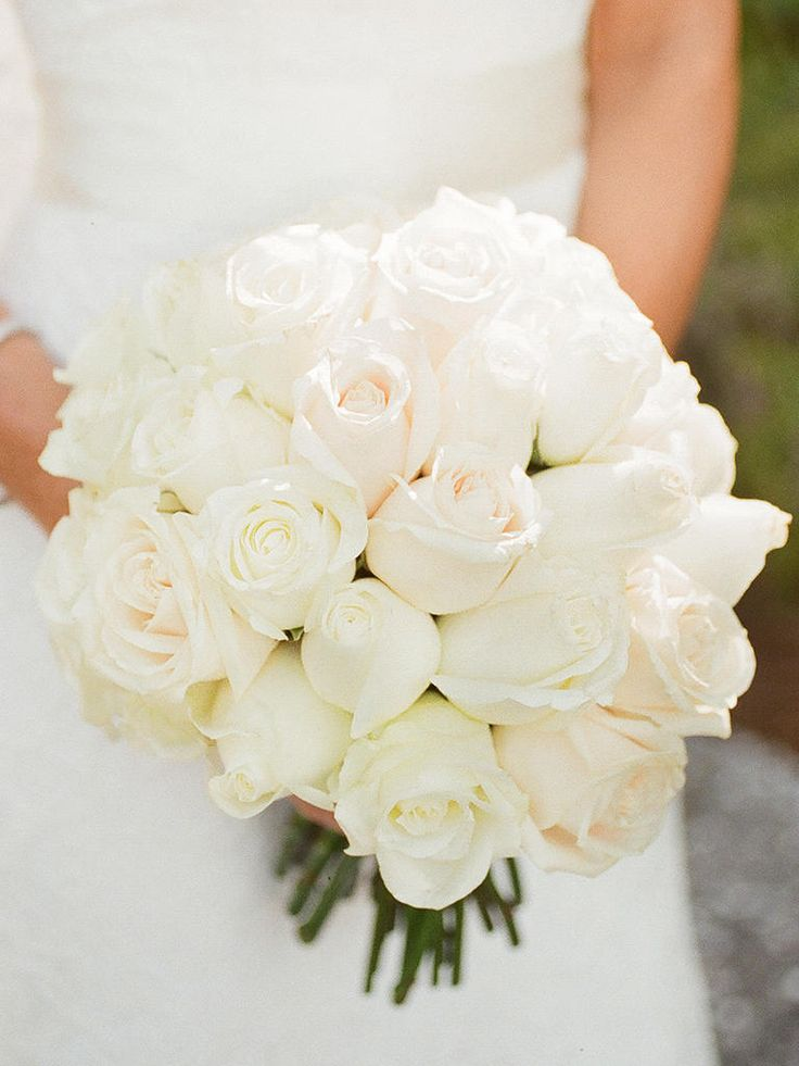 White rose wedding bouquet mightylinksfo Image collections