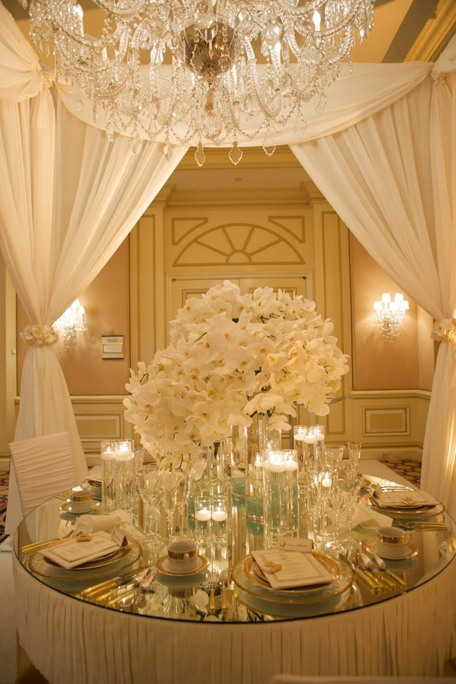 Ivory And Gold Wedding Decorations