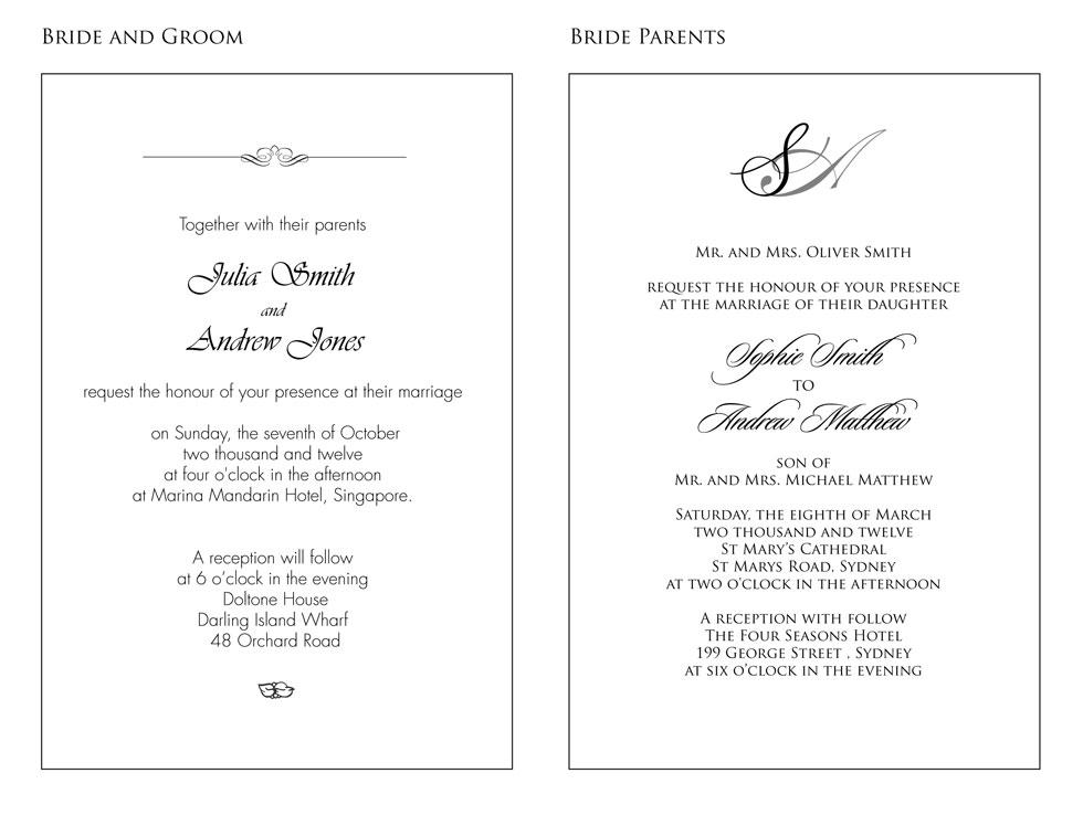 Wedding invitation wording examples wording samples for wedding invitations handsmaden filmwisefo