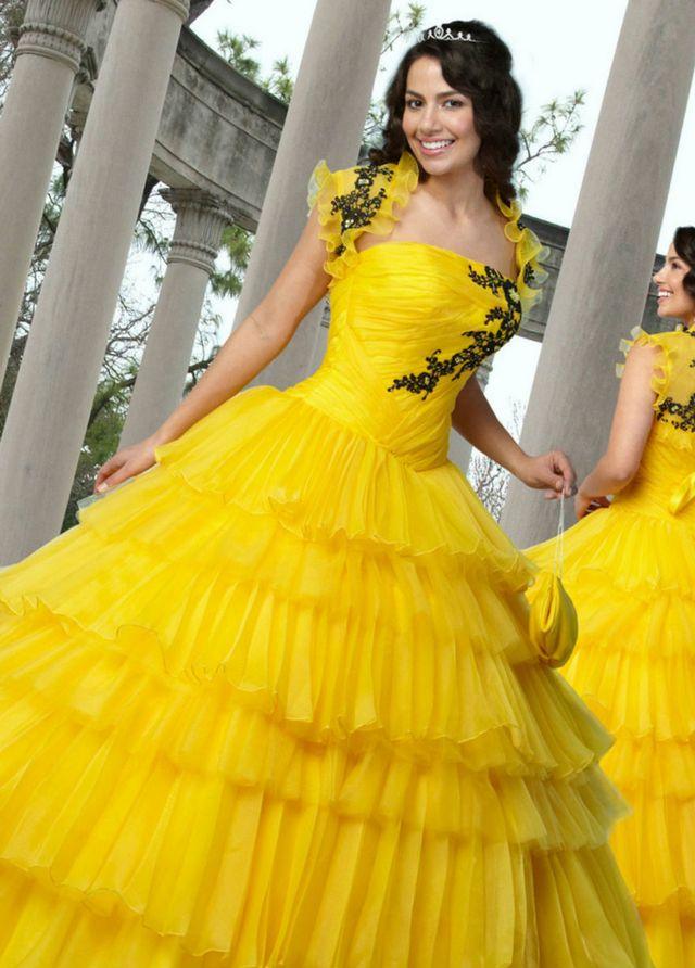 Yellow wedding dress junglespirit Choice Image