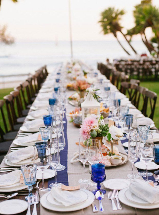 Beach Wedding Table Setting. 187 Best Coastal Weddings Images On Emasscraft Org : weddings table settings - Pezcame.Com