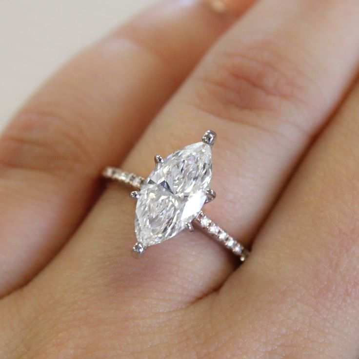 Marquise Engagement Ring With Wedding Band A Distinctive Diamond Makes Stunning Statement