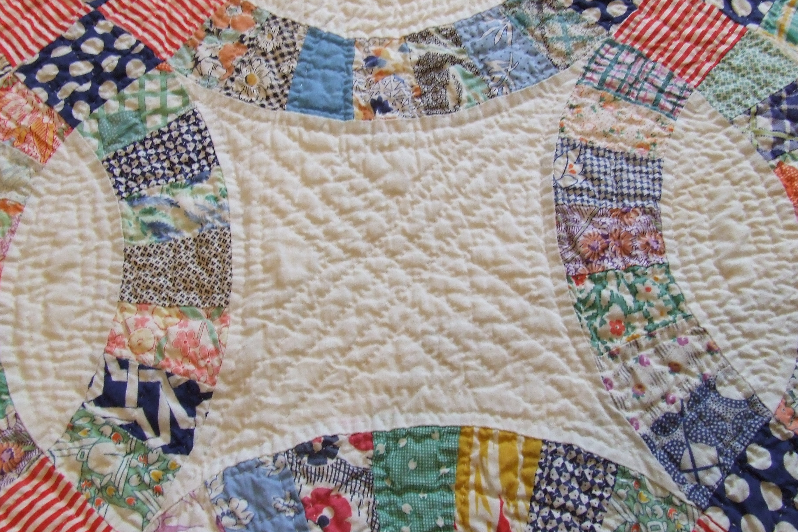 image regarding Free Printable Double Wedding Ring Quilt Pattern named Wedding day Quilt Practices