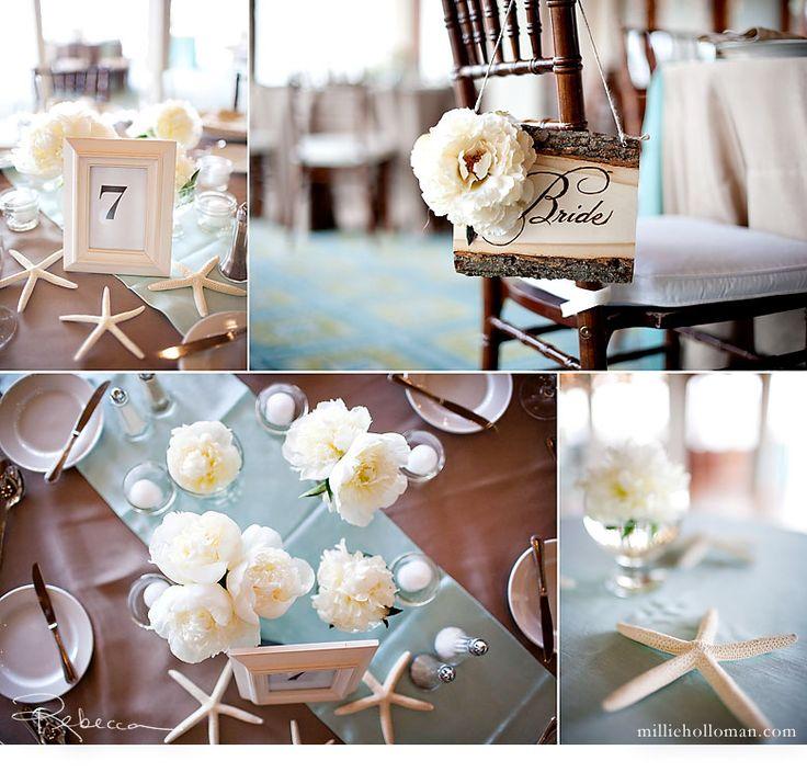 & Tropical Wedding Table Settings