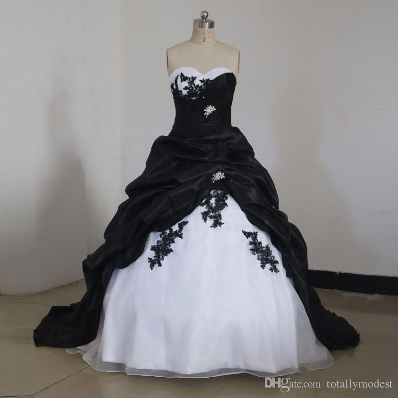Black Princess Wedding Dress