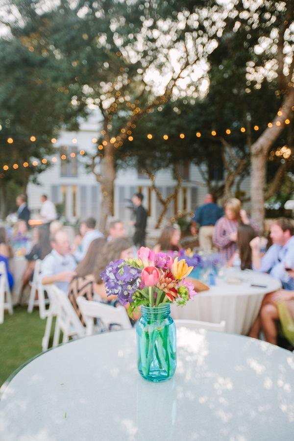Decoration Blue Mason Jar Wedding