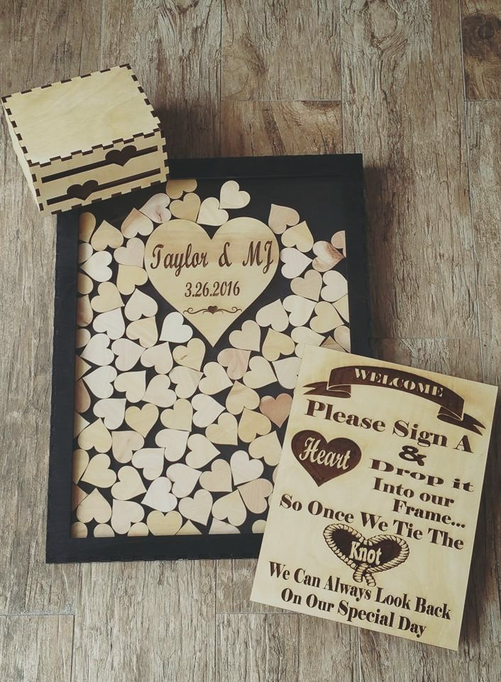 Shadow Box Wedding Guest Book