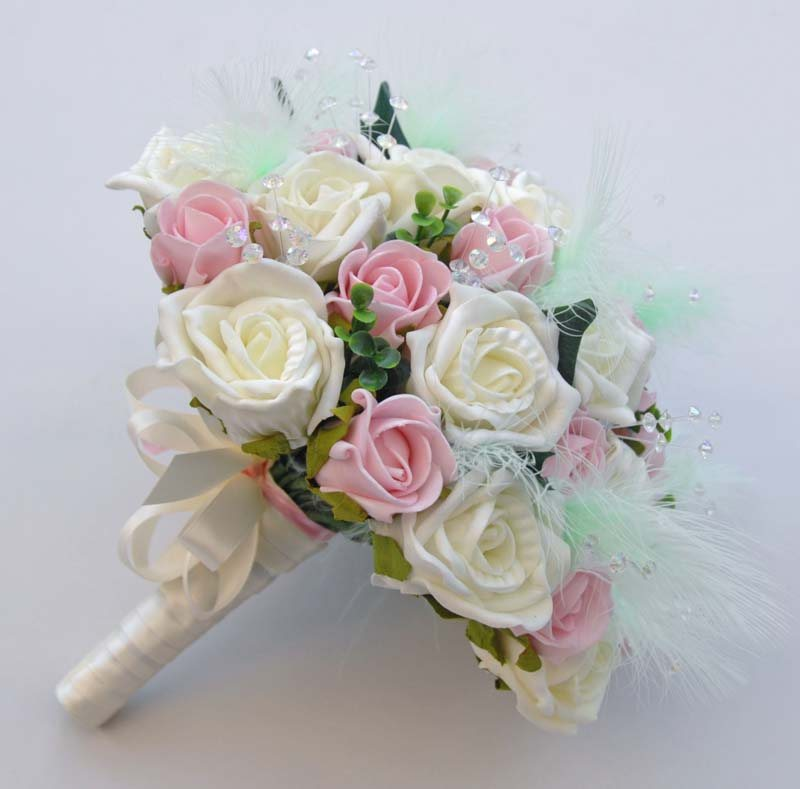 Light Pink And Ivory Wedding Bouquets