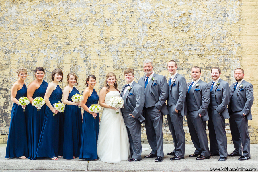 Navy Blue And White Wedding