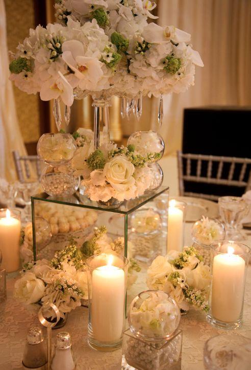 Bon ... Mirror Wedding Table Decoration ...
