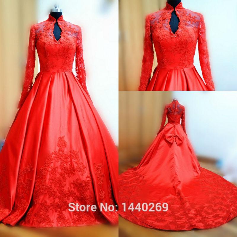 Red Colour Wedding Dress