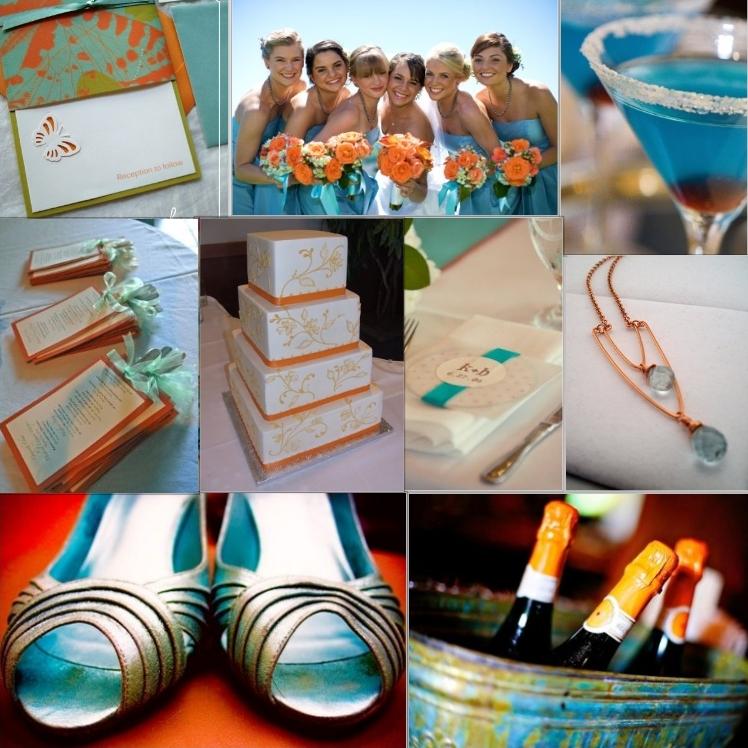 Orange Blue Wedding Emasscraft Org