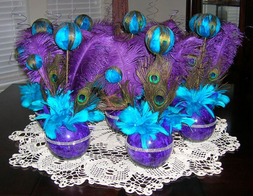 Teal And Purple Wedding Decorations