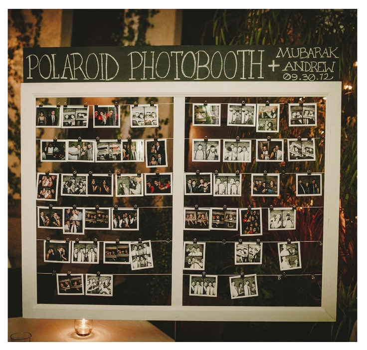 Polaroid Camera Wedding