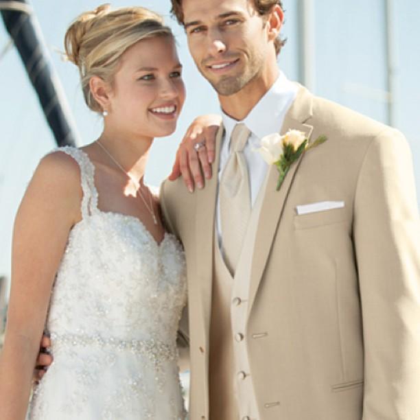 Khaki Suit Wedding