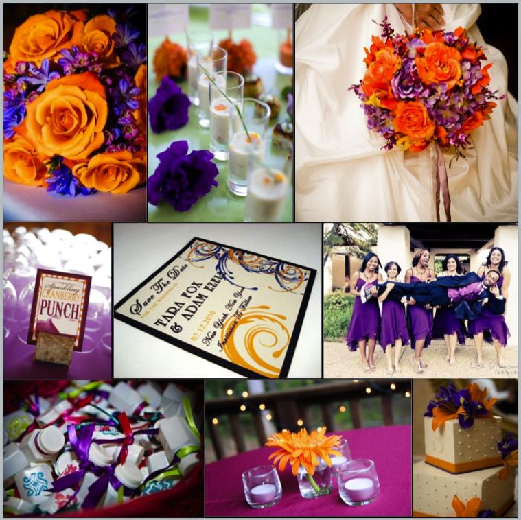 Purple Orange Wedding